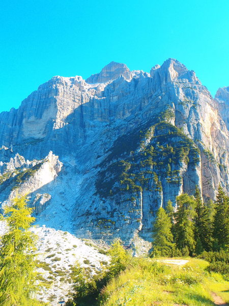 Rock Climbing Photo: Moiazza Massif from the South end. Palla delle Mas...