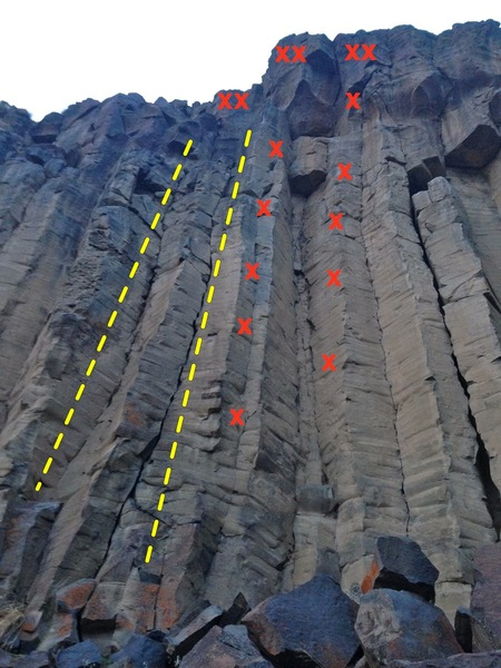 Rock Climbing Photo: A picture of Pictures of Lily.  Anchor for the two...