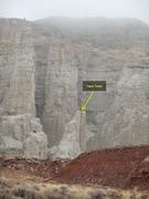 Rock Climbing Photo: Tepid Tower awaits an FA