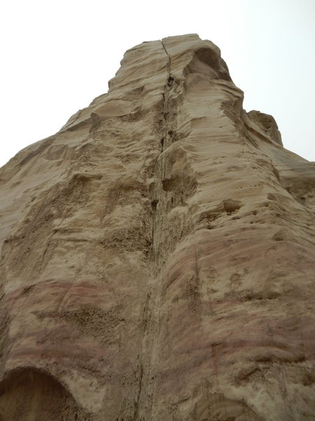 Rock Climbing Photo: This line on Tepid Tower might only go by those wh...