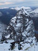 Rock Climbing Photo: Innerdalstårnet seen from Tårnfjell. Normal rout...