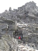Rock Climbing Photo: Some meters after the start of Tårnfjell North-We...