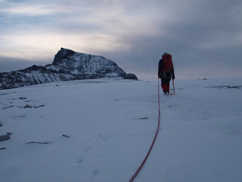 Rock Climbing Photo: Looking at Tåga from Tårnfjell, heading towards ...