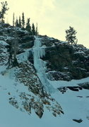 Rock Climbing Photo: The route as seen from the northwest boulder field...