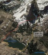 Rock Climbing Photo: Possible approach routes.