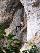 Rock Climbing Photo: All smiles lowering off the steep routes at Treben...