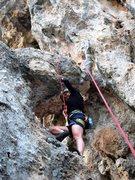 Rock Climbing Photo: Gettin' ready for the traverse left on Ranger Trav...