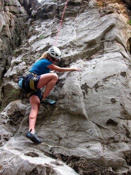 Rock Climbing Photo: Below the little roof on Mermaid