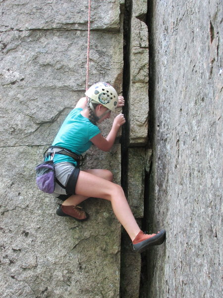 Rock Climbing Photo: 12 year old Alexa Chalnick lays back the opening m...