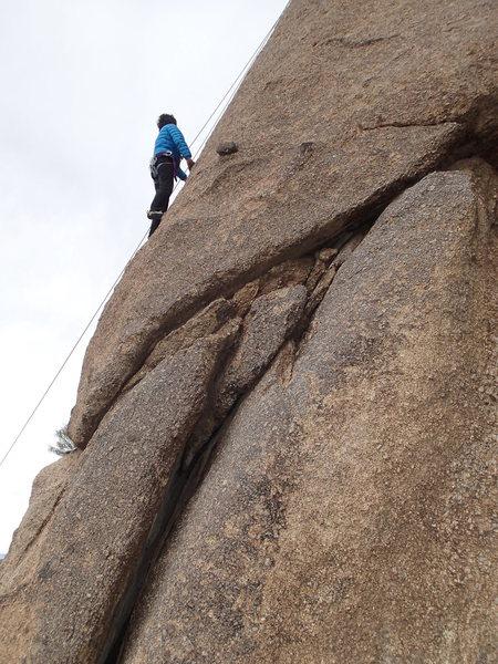 "Rock Climbing Photo: Suzanne on ""Saguaro Hotel"""