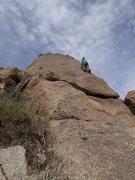 "Rock Climbing Photo: Susan on ""Saguaro Hotel"""
