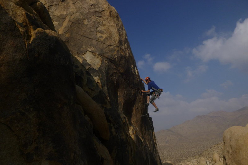 Rock Climbing Photo: Pulling through to some good holds after the crux ...