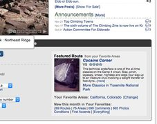 Rock Climbing Photo: What's New on Home Page