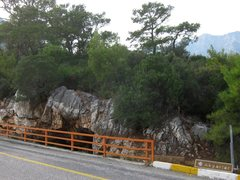 Rock Climbing Photo: Cave straight across road from approach trail