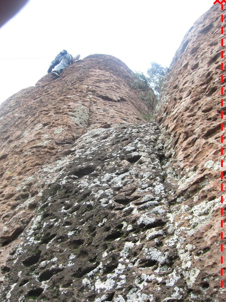 Climber is on Cold Turkey. Hero Highball is the face on the right of the image.