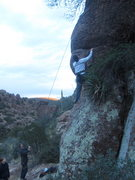Rock Climbing Photo: At the bulge between bolts one and two.