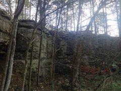 Rock Climbing Photo: 20ft band of not underground limestone
