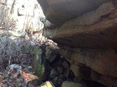 Rock Climbing Photo: Galactic Rowdy. Sit start under roof, reach to fir...