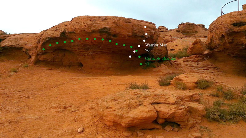 Rock Climbing Photo: corncob boulder topo