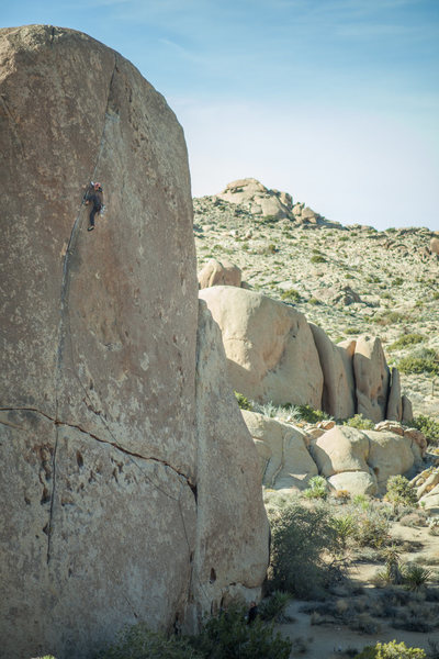 Rock Climbing Photo: Justin redpointing the route.