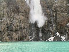 Rock Climbing Photo: Snow fall