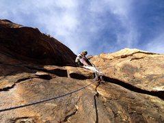 Rock Climbing Photo: Crux bird shit waterfall roof! Classic!!