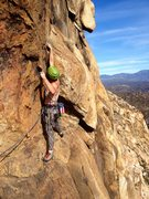 Rock Climbing Photo: Traverse pitch from Big Red sloping ledge towards ...