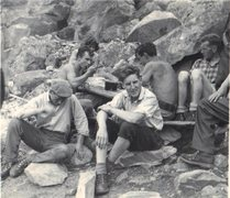 Rock Climbing Photo: Chamonix . 1959  L to R. Nev Hannaby,Paul Ross Mau...
