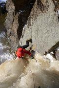 Rock Climbing Photo: Cranking it