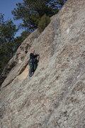 Rock Climbing Photo: Dede on Knob Walk.