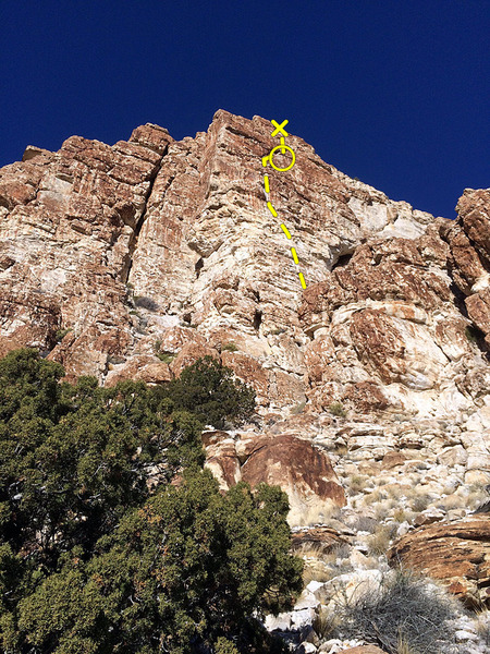 Rock Climbing Photo: On the approach. Either take the direct chimney to...