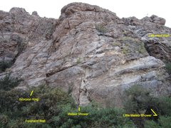 Rock Climbing Photo: Currently the last route to the right before the b...