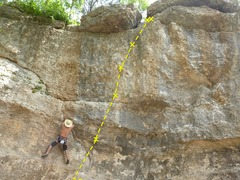 "Rock Climbing Photo: Sebastian on ""Gateway"" but see Torn Awak..."