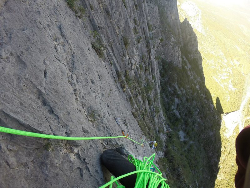 Rock Climbing Photo: Headed up the 6th pitch of OtC!