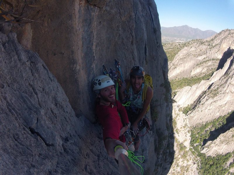 At the 5 pitch belay station of BCB. Awesome view!