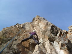 Rock Climbing Photo: A top-rope lap.