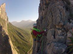 Rock Climbing Photo: Top of Black Cat Bone, El Potrero Chico, MX
