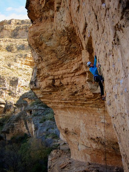 Rock Climbing Photo: Steep and cool movement typifies the lower part of...