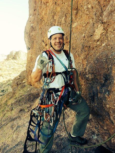 Rock Climbing Photo: 1st ascent AID of Schoolaid