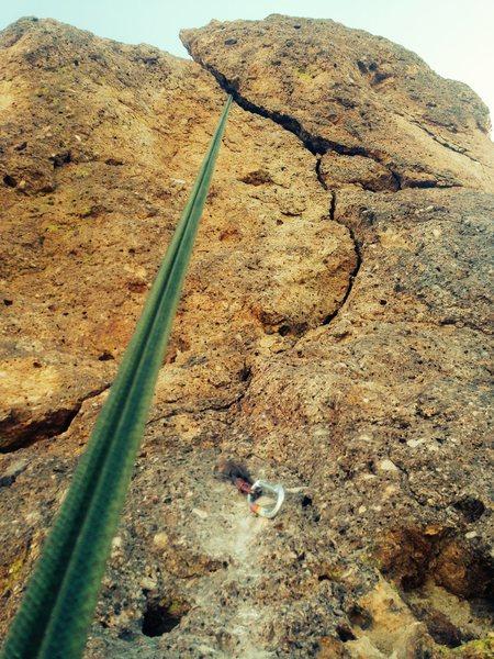 Rock Climbing Photo: SchoolAid crack and pg-13 block?