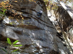 Rock Climbing Photo: Blazing the crux!