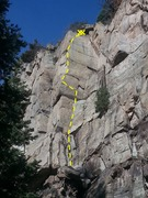 Rock Climbing Photo: Looking up at Annie's Arete.