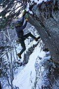 Rock Climbing Photo: Nearing the topout   Photo: Alan Spadafora
