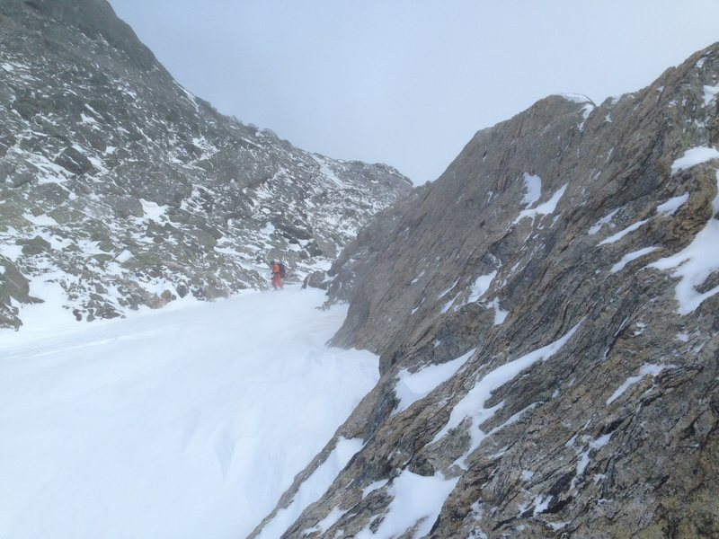 Rock Climbing Photo: Exit of Flattop East Couloir