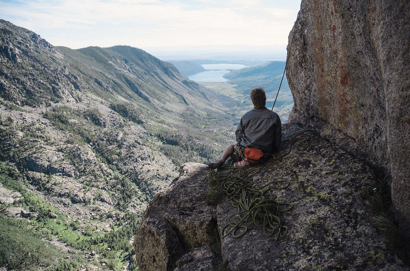 Rock Climbing Photo: nice belay spot near top