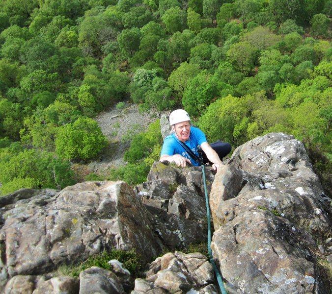 Alan Hinks on Black Crag . Borrowdale Lake District
