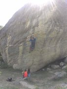 Rock Climbing Photo: me on a route at rameirs  i dont know witch one it...