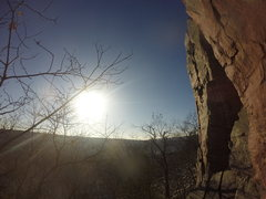 Rock Climbing Photo: Brinton's Crack in the winter.