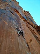 Rock Climbing Photo: Stick to the wall.  Straight up with little crimps...