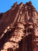 Rock Climbing Photo: We rapped down on two ropes - I think one 60m and ...